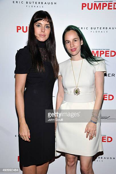Marta Milans and Mila Villegan attend Brian Atwood's Celebration of PUMPED hosted by Melissa McCarthy and Eric Buterbaugh on October 23 2015 in Los...