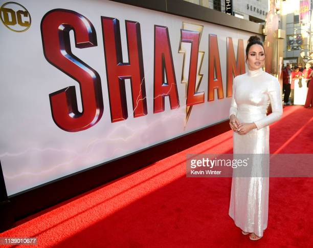 Marta Milans arrives at the world premiere of Warner Bros Pictures and New Line Cinema's SHAZAM at TCL Chinese Theatre on March 28 2019 in Hollywood...