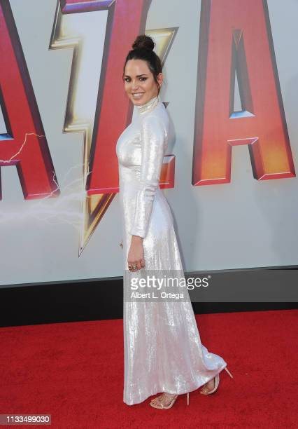 Marta Milans arrives for the Warner Bros Pictures And New Line Cinema's World Premiere Of SHAZAM held at TCL Chinese Theatre on March 28 2019 in...