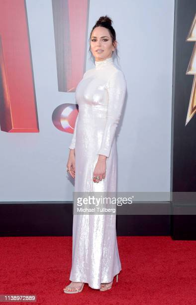 Marta Milans attends the Warner Bros Pictures And New Line Cinema's World Premiere Of SHAZAM at TCL Chinese Theatre on March 28 2019 in Hollywood...