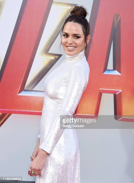 Marta Milans attends Warner Bros Pictures And New Line Cinema's World Premiere Of SHAZAM at TCL Chinese Theatre on March 28 2019 in Hollywood...