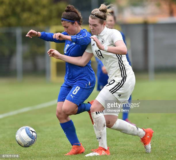 Marta Morreale of Italy U16 and Laura Haas of Germany U16 in action during the 2nd Female Tournament 'Delle Nazioni' match between Germany U16 and...