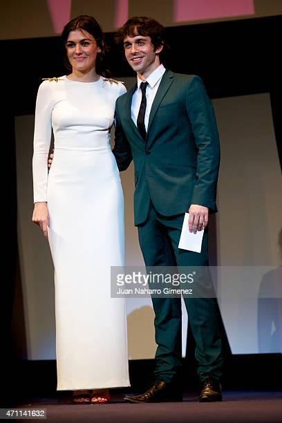 Marta Nieto and Alberto Amarilla attend the 18th Malaga Spanish Film Festival ceremony at the Cervantes Theater on April 25 2015 in Malaga Spain