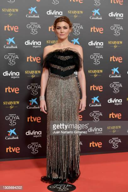 Marta Nieto attends Goya Cinema Awards 2021 red carpet at Gran Hotel Miramar on March 06, 2021 in Malaga, Spain.