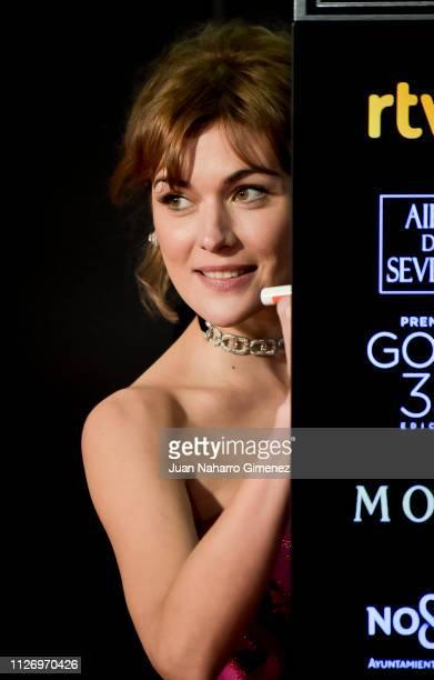 Marta Nieto attends the Goya Cinema Awards 2019 during the 33rd edition of the Goya Cinema Awards at Palacio de Congresos y Exposiciones FIBES on...
