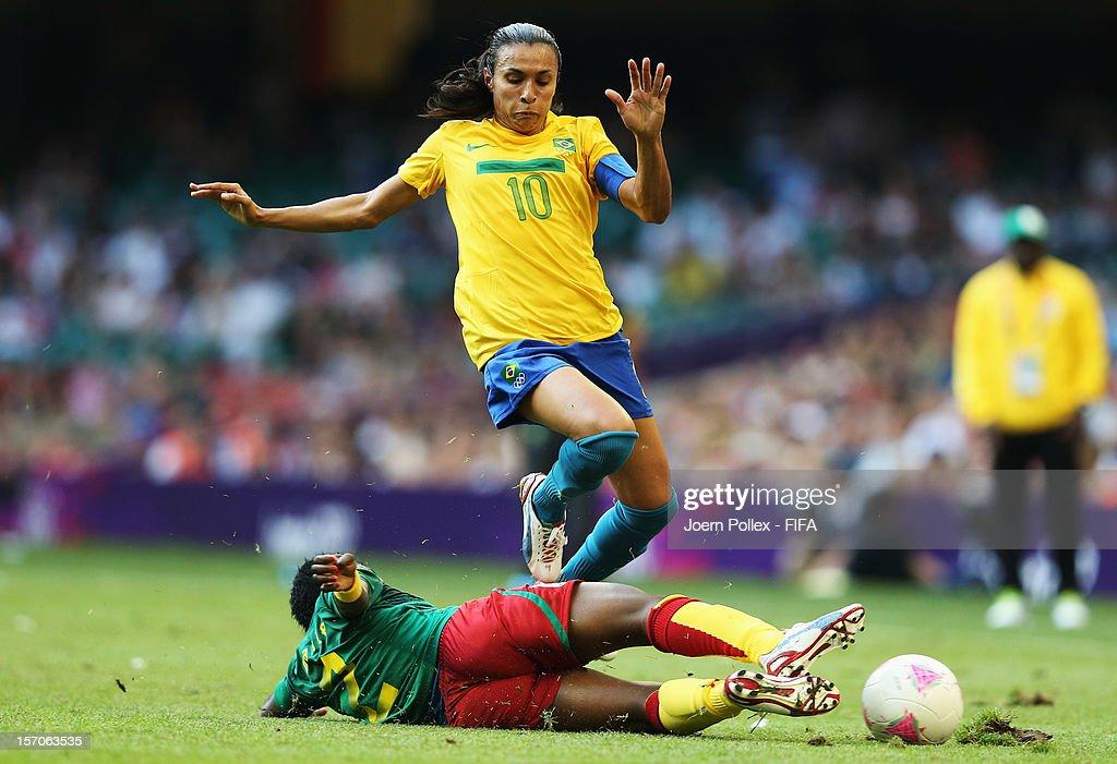 Olympics Day -2 - Women's Football - Cameroon v Brazil : News Photo