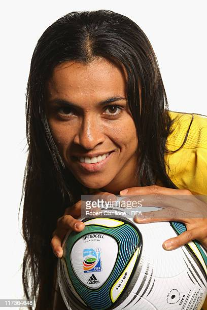 Marta of Brazil during the FIFA portrait session on June 26 2011 in Dusseldorf Germany