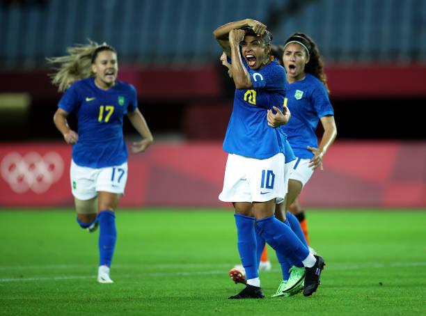 JPN: Netherlands v Brazil: Women's Football - Olympics: Day 1