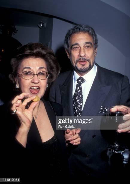 Marta Ornelas and Placido Domingo at the Grand Opening of Restaurant Domingo Restaurant Domingo New York City