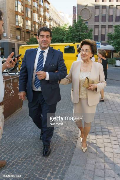 Marta Ornelas attends Plácido Domingo's concert at the Royal Theater of Madrid. Spain . July 26, 2018