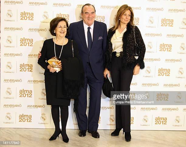 Marta Ornelas, Fernando Fernandez Tapias and Nuria Gonzalez attend 'Alma Awards' by Real Madrid Foundation at Palacio Municipal de Congresos on March...