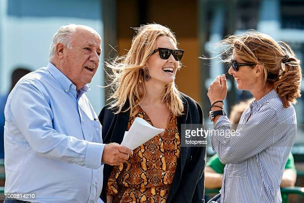 Marta Ortega and Amancio Ortega attend during CSI Casas Novas Horse Jumping Competition on July 20 2018 in A Coruna Spain