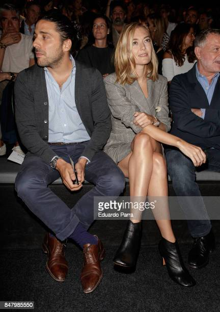 Marta Ortega and Carlos Torretta are seen at the Roberto Torretta show during MercedesBenz Fashion Week Madrid Spring/Summer 2018 at Ifema on...