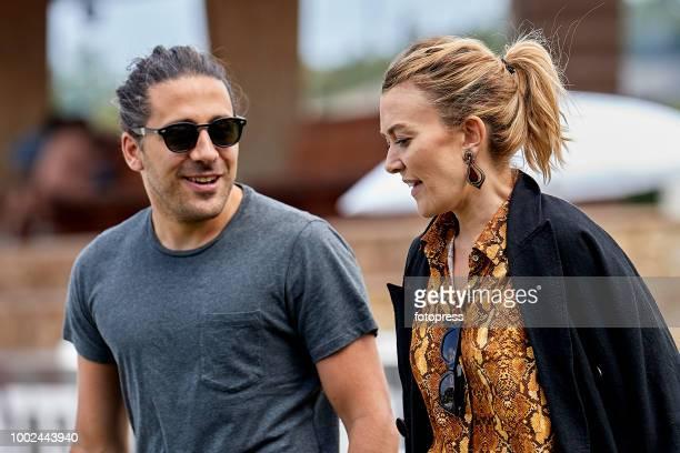 Marta Ortega and Carlos Torretta attend during CSI Casas Novas Horse Jumping Competition on July 20 2018 in A Coruna Spain