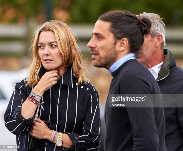 Marta Ortega and Carlos Torretta attend during CSI Casas Novas Horse Jumping Competition on July 30 2017 in A Coruna Spain