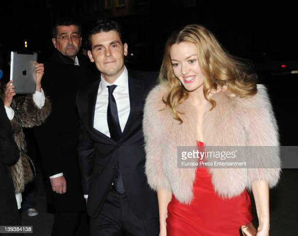 Marta Ortega and Sergio Alvarez attend a party the night before their wedding at Finisterre hotel on February 17 2012 in A Coruna Spain