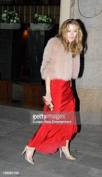 Marta Ortega attends a party the night before her wedding at Finisterre hotel on February 17 2012 in A Coruna Spain