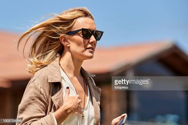 Marta Ortega attends during CSI Casas Novas Horse Jumping Competition on July 22, 2018 in A Coruna, Spain.