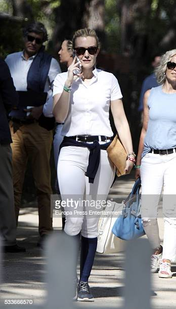 Marta Ortega attends the Global Champions Tour show jumping tournament on May 22 2016 in Madrid Spain