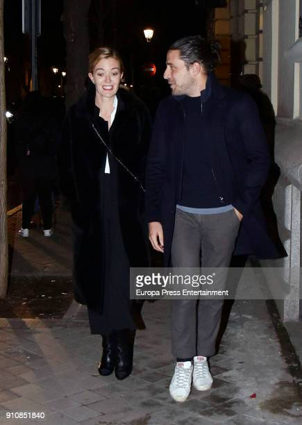Marta Ortega Carlos Torretta are seen on January 18 2018 in Madrid Spain