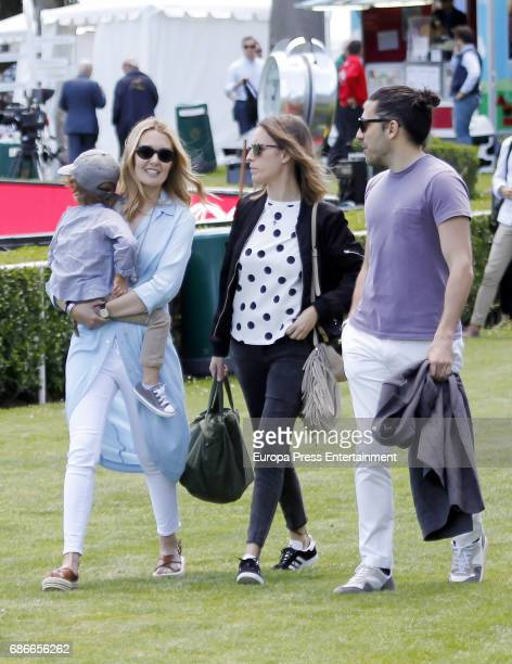 Marta Ortega her son Amancio Ortega and Carlos Torretta attend the Global Champions Tour tournament on May 21 2017 in Madrid Spain
