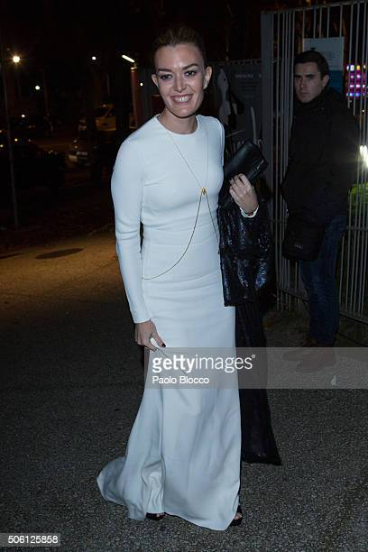 Marta Ortega is seen arriving to the Eugenia Silva's 40th birthday party on January 21 2016 in Madrid Spain