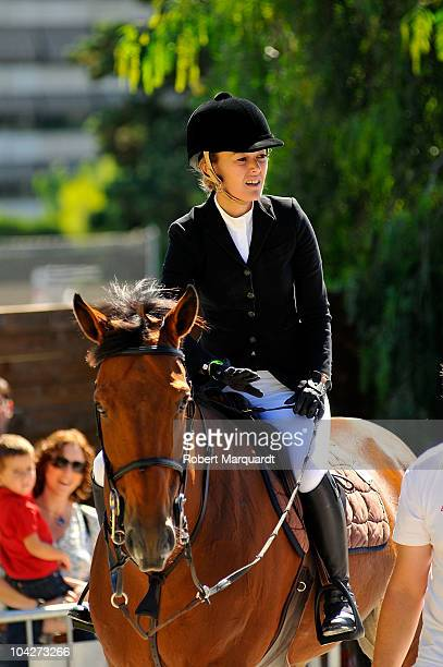 Marta Ortega of Spain attends the 99th CSIO Barcelona Cup of Nations event at the Real Club de Polo de Barcelona on September 19 2010 in Barcelona...