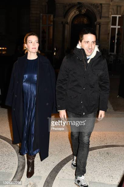 Marta Ortega Perez and Carlos Torretta are seen leavin Valentino fashion show during Paris Fashion Week - Haute Couture Spring/Summer 2020 on January...