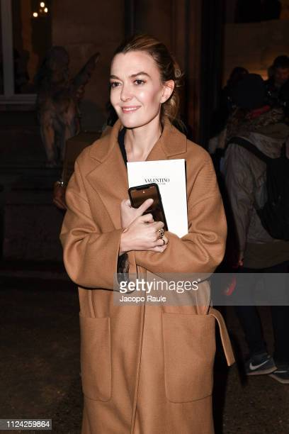Marta Ortega Perez is seen arriving at Valentino fashion show during Paris Fashion Week Haute Couture Spring Summer 2020 on January 23 2019 in Paris...