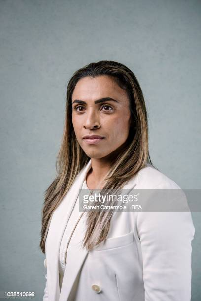 Marta poses for a portrait at London Marriott Hotel County Hall prior to the The Best FIFA Football Awards 2018 on September 23 2018 in London England