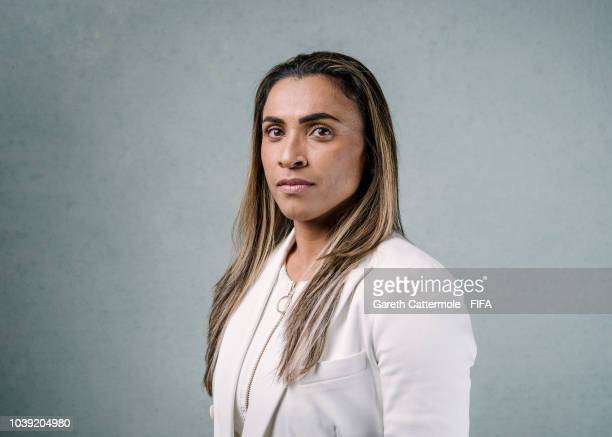Marta poses for a portrait prior to The Best FIFA Football Awards at London Marriott Hotel County Hall on September 23 2018 in London England
