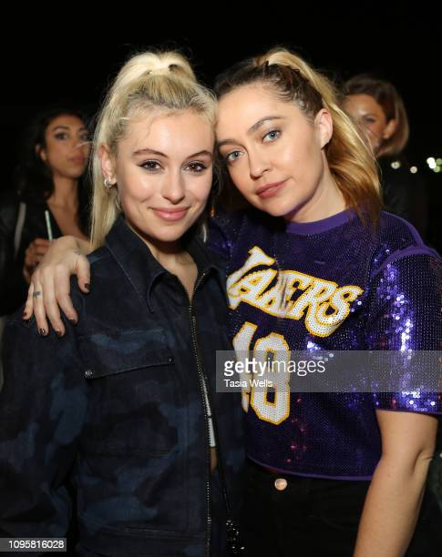 Marta Pozzan and Brandi Cyrus attend the Margot Los Angeles Rooftop Restaurant Opening at Platform at on January 17 2019 in Culver City California