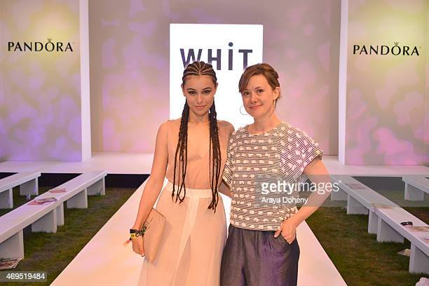 Marta Pozzan and Whitney Pozgay attend the PANDORA Jewelry and WHiT fashion show at the PANDORA Jewelry Experience #ArtofYou at on April 12 2015 in...