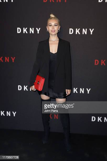 Marta Pozzan attends as DKNY turns 30 with special live performances by Halsey and The Martinez Brothers at St Ann's Warehouse on September 09 2019...