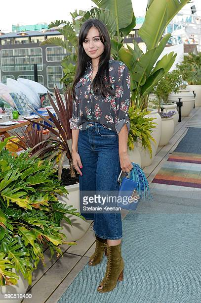 Marta Pozzan attends LOFT and Yes Way Rose Celebrate Summer In LA at Mama Shelter on August 16 2016 in Los Angeles California