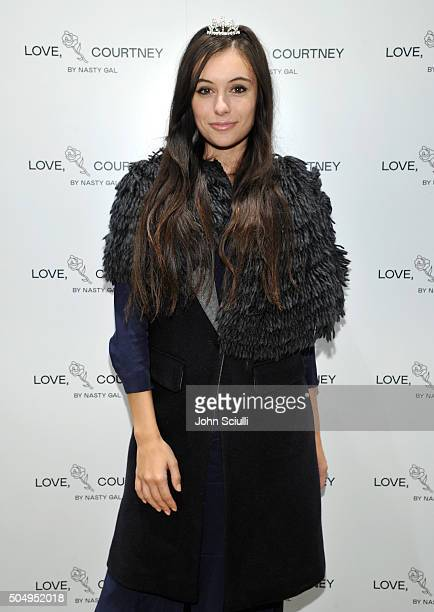 Marta Pozzan attends Love Courtney by Nasty Gal launch party at Nasty Gal on January 13 2016 in Los Angeles California