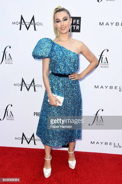 Marta Pozzan attends The Daily Front Row's 4th Annual Fashion Los Angeles Awards at Beverly Hills Hotel on April 8 2018 in Beverly Hills California