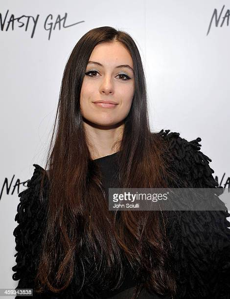 Marta Pozzan attends the Nasty Gal Melrose Store Launch on November 20 2014 in Los Angeles California