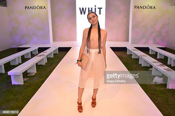 Marta Pozzan attends the PANDORA Jewelry and WHiT fashion show at the PANDORA Jewelry Experience #ArtofYou at on April 12 2015 in Palm Springs...