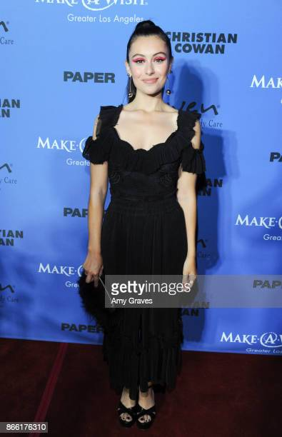 Marta Pozzan attends the PAPER Magazine Runway Benefit For MakeAWish Foundation at The Taglyan Complex on October 24 2017 in Los Angeles California