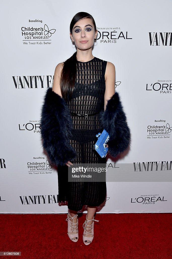 Marta Pozzan attends Vanity Fair, L'Oreal Paris, & Hailee Steinfeld host DJ Night at Palihouse Holloway on February 26, 2016 in West Hollywood, California.