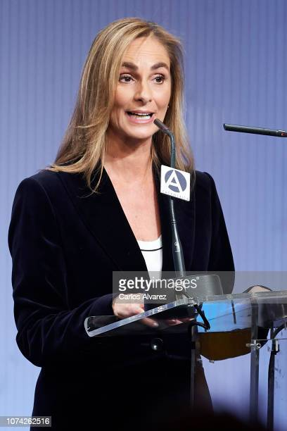 Marta Reyero attends '40 Años de Diplomacia en Democracia Una Historia de Exito' exhibition at Casa de America on November 29 2018 in Madrid Spain