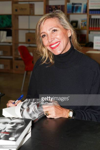 Marta Robles during the inauguration of El Rastrillo de Nuevo Futuro in the Cristal pavilion of the madrid country house Spain November 10 2018