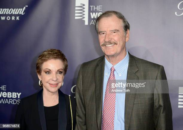 Marta Sahagun de Fox and Former President of Mexico Vicente Fox attend The 22nd Annual Webby Awards at Cipriani Wall Street on May 14 2018 in New...