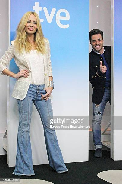 Marta Sanchez and David Bustamante attend the presentation of the musical talent show 'HitLa Cancion' on December 18 2014 in Madrid Spain
