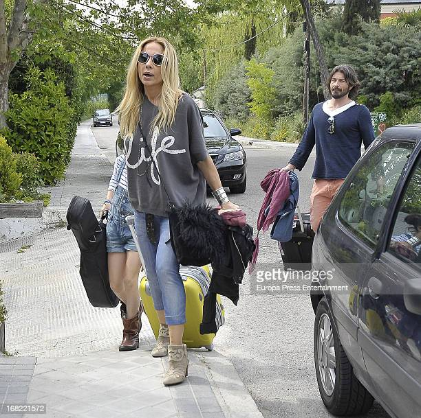 Marta Sanchez and her boyfriend Dani Teran are seen on May 5 2013 in Madrid Spain