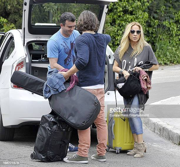 Marta Sanchez and her boyfriend Dani Teran are seen on May 5 2013 in Madrid Spain