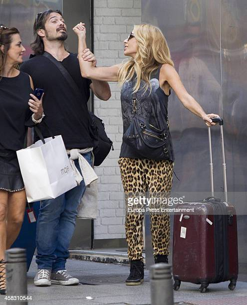 Marta Sanchez and her boyfriend Daniel Teran are seen on September 26 2014 in Madrid Spain