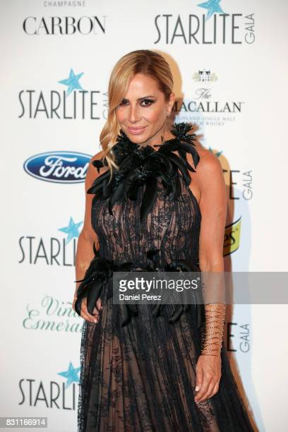 Marta Sanchez attends Starlite Gala on August 13 2017 in Marbella Spain
