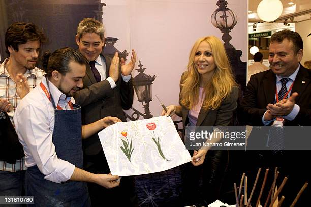 Marta Sanchez attends the stand of Turkey in FITUR at Ifema on January 20 2011 in Madrid Spain
